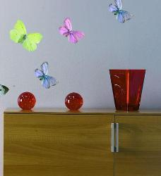 Small butterflies wall cutouts