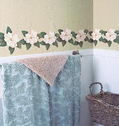 White Flower wall sticker cutouts