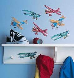 Wall Sticker for Boys Room-Vintage Airplanes