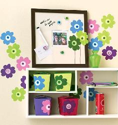 Colorful floral wall stickers