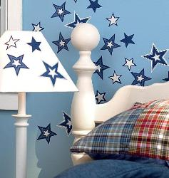 Shining stars vinyl wall stickers