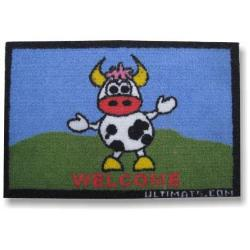 Entrance mat with welcome cow for kids room:Welcome Cow