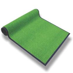 Artificial grass fiber floor mat with PVC back:Grass