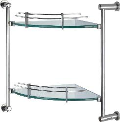 Ozone Vogue Line Bathroom Shelf Corner OZ.BA.Tray-GL-02.C.VL