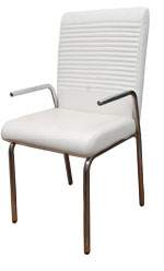 Kris Milano White sleek Guest Chair