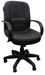 Kris Milano Traditional Leather Conference Chair