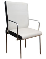 Kris Milano White stylish Guest Chair