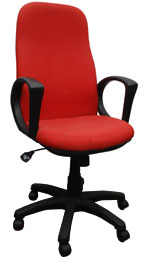 Kris Milano High Back Red Fabric Conference Chair